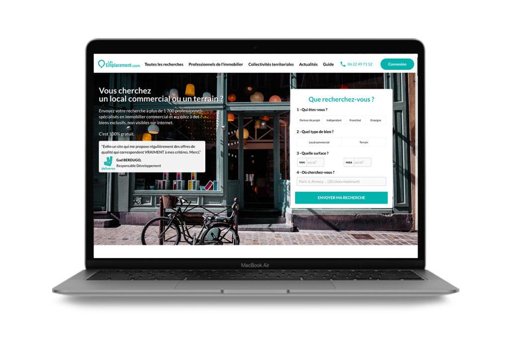 start-up unemplacement.com local commercial
