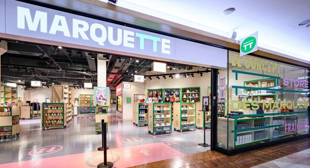 Marquette magasin physique pour DNVB