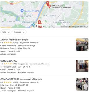 Pack Local Google - définition et exemple