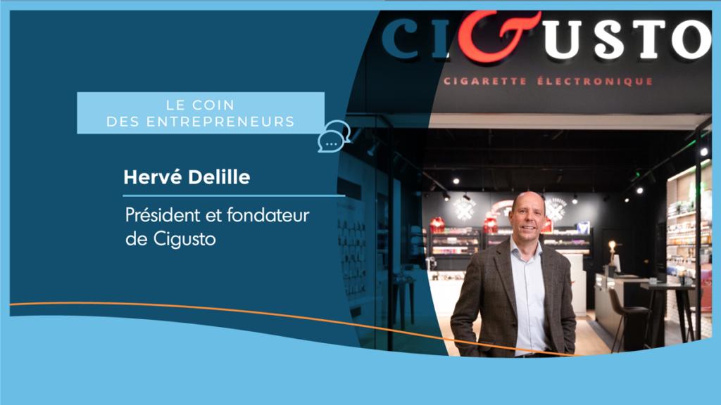 Hervé Delille président de Cigusto, une entreprise de cigarettes électroniques